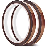 EQUTY BAYMERS 2 Rolls 10mm X 33m 108ft High Temperature Heat Resistant Tape Electronic Polyimide Tape