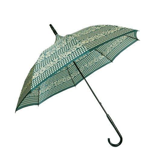 【ANNA SUI】アナスイ 日本製 ドット&フラワー 婦人長傘(雨傘) 緑