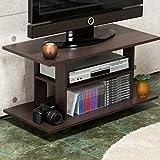 オープン型 テレビボード 「エリーゼ」【茶色】キャスター付き ラック収納 移動式棚 物置