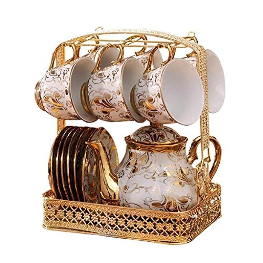 テロ無実観点食器セット セラミックコーヒーカップセットイングリッシュフラワーティーコーヒーティーセットカップアフタヌーンティーコーヒーカップ 食器?カトラリー