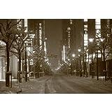 【日本の冬の風景ポストカードAIR】2014年大雪の中央区 銀座付近の葉書ハガキはがき photo by MIRO
