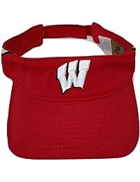 NCAAリーボック – Wisconsin Badgers Heisman Footballレッド調整可能バイザー帽子