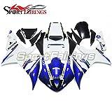 SPMOTO オートバイ バイク外装パーツ 適合 ヤマハ Yamaha YZF1000 YZF-R1 R1 02-03 2002 2003 年 No.46 白と青 フルカウル