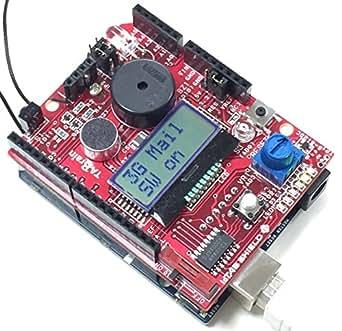 IoT教材キットVer3.0 IoT教材キットは、オープンソースハードウェアArduino互換機のGenuino101上で稼働する3G通信モジュール(3GIM V2.1)とセンサキットIoT教材(IoTABシールドV3.0)を組み併せた製品。( 内容物は、3GIM V2.1、IoTABシールド V3.0、Genuino 101、 3ヶ月間のプリペイドSIMカード、3G&GPS専用フレキアンテナ、AC電源9V1.3A、USBケーブル、他マニュアル・サンプルはWebサイトからダウンロード)