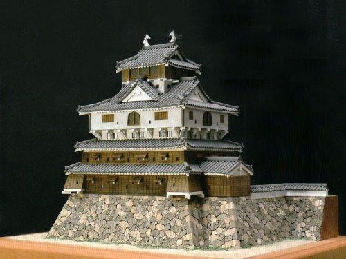 ウッディジョー 1/150 岩国城 木製模型 組立キット