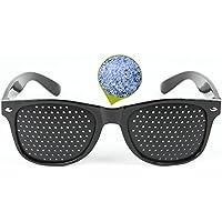 視力回復 ピンホールメガネ【近視 遠視 老眼 乱視矯正メガネ】視力トレーニング 疲れ目 リフレッシュ 眼筋力 アップ 遠近兼用