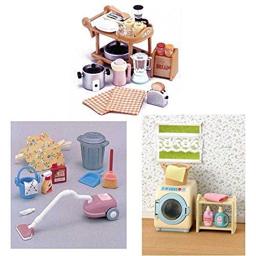 3異なるセット–キッチンアプライアンス、掃除機と洗濯機セ...