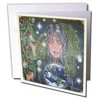 シンディ・Thorrington Haggerty Angels Fairies–Mother earth S Tears–グリーティングカード Set of 12 Greeting Cards