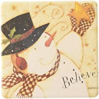 """CoasterStone AS1305 Absorbent Coasters, 11cm,""""Winter Wishes"""", Set of 4"""