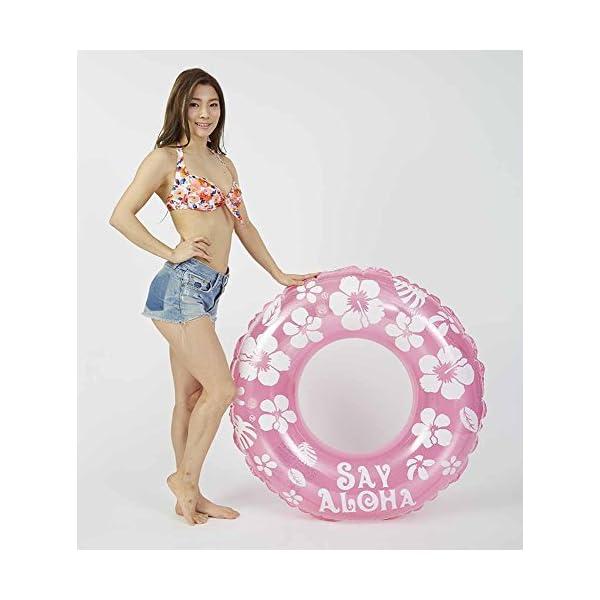 ドウシシャ 浮き輪 SayAloha ピンク ...の紹介画像2