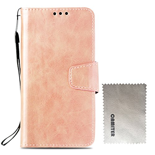 Samsung Galaxy S4 ケース 手帳型 Galaxy S4 カバー Camiter 高品質 PU合皮レザー カード収納 スタンド機能 マグネット式 財布型 フリップカバー 耐衝撃 高級感 おしゃれ (ローズゴールド)