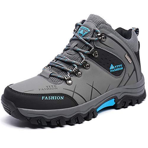 [RDGO] メンズ ハイキングシューズ トレッキングブーツ 登山靴 アウトドアシューズ 防滑 牛革 ローカット ...