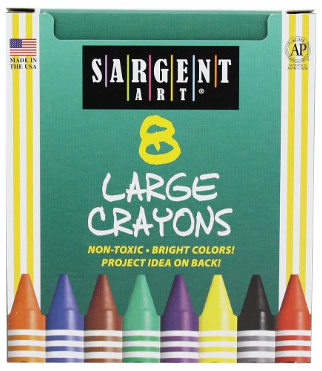 Sargent Art 22-0561 8 Large-Crayons, Tuck Box by Sargent Art