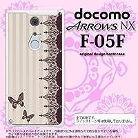 F05F カバー ARROWS NX F-05F ケース アローズ NX 蝶 茶 nk-f05f-1284