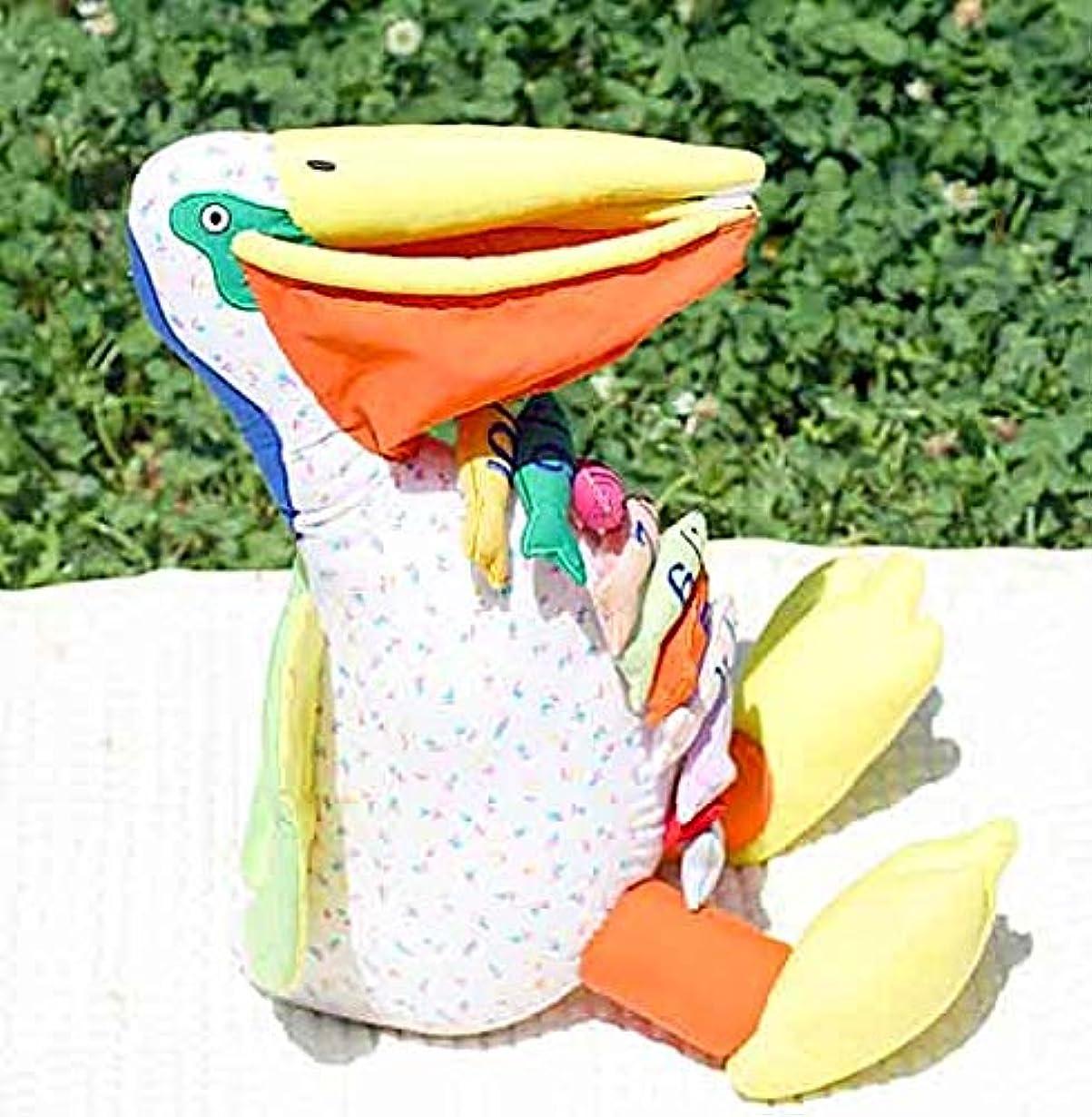 大西洋シャイニング煙布おもちゃ 布のプレイトイ かずあそび ペリカンくんのお魚大好き1 2 3 幼児教室 幼児教育