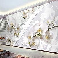 Mingld カスタム壁画壁紙現代のファッション蛾蘭花壁絵画リビングルームの寝室の背景壁の装飾-120X100Cm