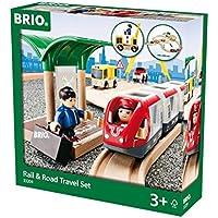 BRIO WORLD レール&ロードトラベルセット 33209