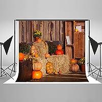 ケイト7ft (W) x5ft (H) 感謝祭背景ファームPumpkinバックドロップマイクロファイバー子供写真Studio小道具