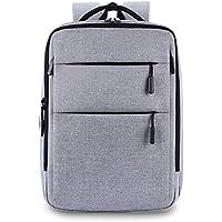 Luanna Jena リュック バックパック ビジネス メンズ レディース 大容量 PCバッグ 15.6インチ USB 充電ポート 防水 レインカバー 付 リュックサック (グレー)