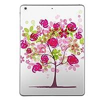 第5世代 iPad iPad5 2017年モデル スキンシール apple アップル アイパッド A1822 A1823 タブレット tablet シール ステッカー ケース 保護シール 背面 人気 単品 おしゃれ フラワー 色彩 ピンク 009424