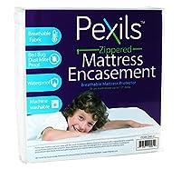 (Twin) - Pexils Breathable Zippered Mattress Encasement - 100% Waterproof, Dust Mite Proof, Bed Bug Proof (twin)