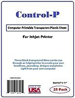 """クリアインクジェット透明フィルム/コンピュータ印刷可能な透明プラスチックシートのインクジェットプリンタ、レターサイズ8.5"""" X 11"""""""