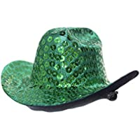 Forum Novelties Mini Sequin Cowboy Hat Hair Clip