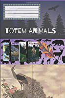 Totem Animals - Peacock: Composition Book, Motivational Notebook, Journal, Diary (110 Pages, Blank, 6 x 9)