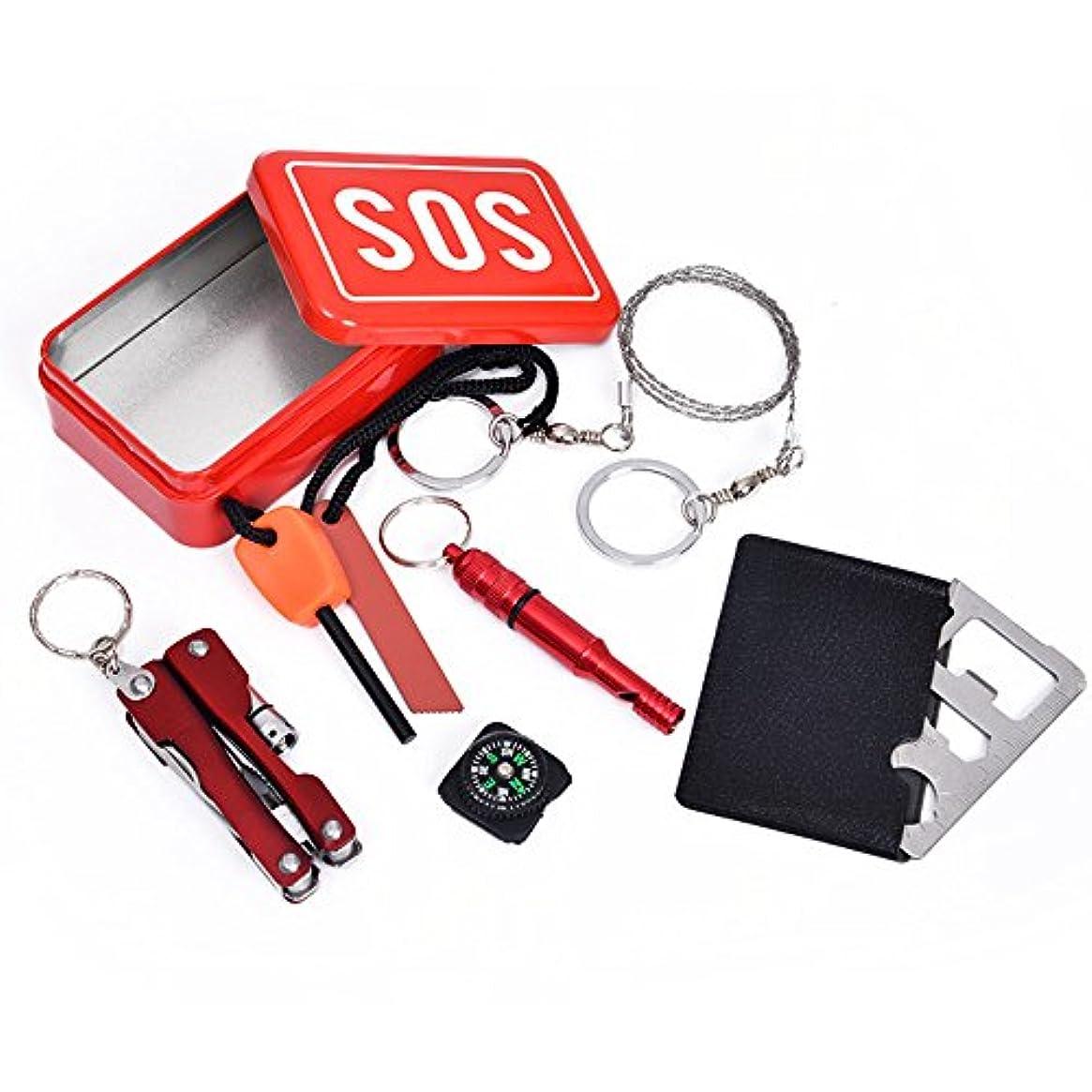 必要マーキー再発するOSOGODE(オソグド)携帯便利なツールセット いざと言う時に役立つ SOS アウトドア? 緊急 キャンプ 災害時 防災グッズ 方位磁石 旅行/ハイキング/サイクリング/クライミング/狩猟のため アウトドア グッズ