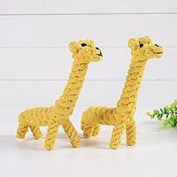 幼児期のゲーム かわいいペットのおもちゃ手編みの犬耐虫性のおもちゃ(キリン)