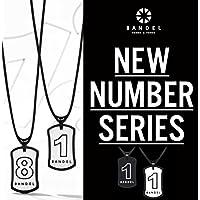 BANDEL バンデル【NUMBER NECKLACE】ナンバーネックレス リバーシブルモデル【正規品】ブラック/ホワイトリバーシブル・No.1〜No.9・パワー加工・ジャパンテクノロジー