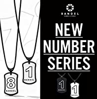 BANDEL バンデル【NUMBER NECKLACE】ナンバーネックレス リバーシブルモデル【正規品】ブラック/ホワイトリバーシブル・No.1〜No.9・パワー加工・ジャパンテクノロジー (No.9, 60cm)