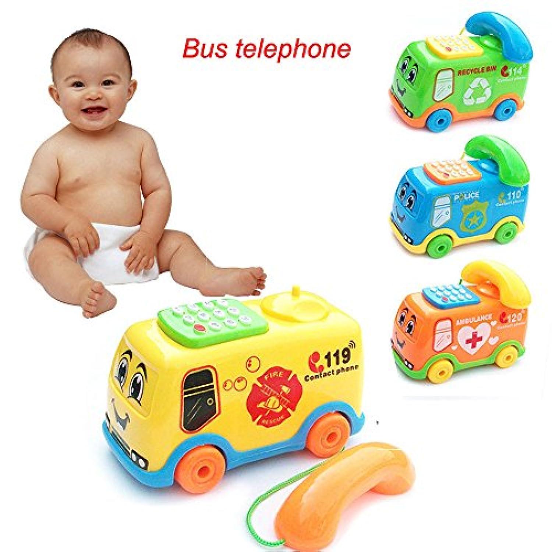 ハロウィン ベビー おもちゃ 音楽 漫画 バス 電話 教育 発達 子供 おもちゃ ギフト A ブラック aaa