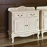 アンティーク調クラシック家具シリーズ キャビネット・幅75cm 508632(サイズはありません ア:ホワイト)