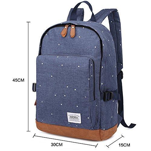 KAUKKO 宇宙柄 星柄 リュック OUTDOOR DAY PACK アウトドア デイパック カジュアル 天然素材 綿 洗い簡単 バックパック