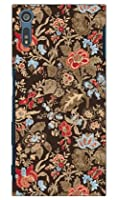 SECOND SKIN SINDEE 「Nooma Flower (ブラウン)」 / for Xperia XZ SO-01J・SOV34・601SO/docomo・au・SoftBank DSO01J-ABWH-193-K620