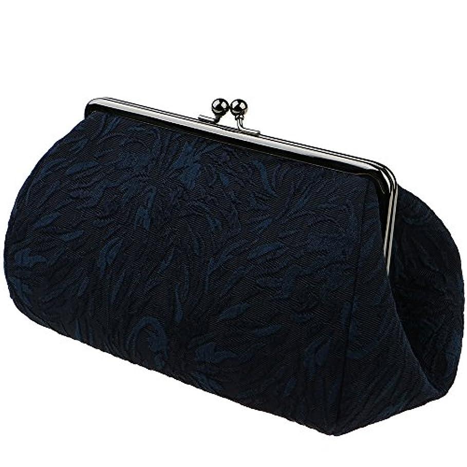 対称くさび興味watona ジャガード 化粧ポーチ(スリム)50-55sh (5.5寸 スリムサイズ, こん)