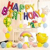 誕生日 バルーン HAPPY BIRTHDAY 飾り付け 風船 パーティー 装飾 セット 記念日 飾り 超豪華セット 特大 バースデー