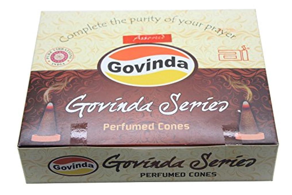 みなす明確に狭いGovinda Incense Cones – Assorted – 12パックの10 Conse各 – 6つの異なる香り