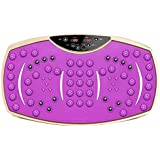 NJC Vibration Power Plate, Vibration Trainer for Weight Loss & Body, Lazy Home Slimming Fat Burning Vibration Thin Stomach Weight Loss (Color : Purple)