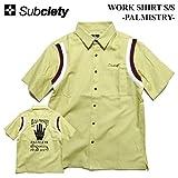 (サブサエティ) SUBCIETY WORK SHIRT S/S -PALMISTRY- シャツ 半袖シャツ ワークシャツ ボウリングシャツ (M, ベージュ)