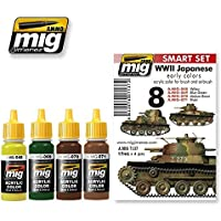 Ammo of Mig 日本軍AFVアクリルカラーセット 第二次世界大戦 4瓶セット 17ml #7137