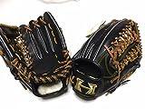 ハイゴールド 限定特注品硬式外野手用グラブ 黒 右投げ用 学生野球 高校野球対応 野球用品 硬式野球  グローブ
