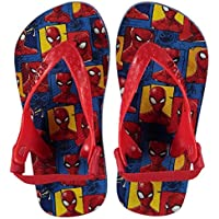 SoulCal Maui Spiderman Flip Flop Infants Boys Red/Blue Thong Sandals Beach Shoes