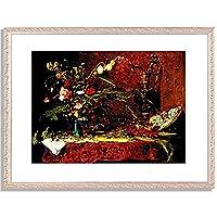ムンカーチ・ミハーイ Munkacsy, Mihaly「Groses Blumenstilleben. 1881」インテリア アート 絵画 プリント 額装作品 フレーム:装飾(銀) サイズ:M (306mm X 397mm)