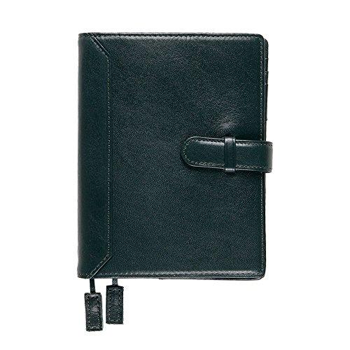 【本革】 ほぼ日手帳オリジナル専用 A6手帳カバー ミーリングレザー ベルト付き (ブラックグリーン) Business Leather Factory
