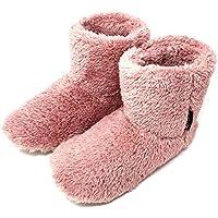 ミコラ正規品 北欧 あったか もこもこルームシューズ 【Lサイズ 24.5-27.0cm】(ブラウン、ネイビー、ベージュもあります) 寒い台所でもホカホカ暖かい 足首まですっぽり 冬用 防寒 ボアブーツ スリッパ【ピンク】