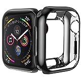 HOCO コンパチブル Apple Watch Series5 4 ケース アップルウォッチ カバー 44mm メッキ TPU ケース 耐衝撃性 超簿 脱着簡単 アップルウォッチ 保護ケース Apple Watch 5 4に対応 (ブラック 44mm)