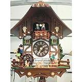 シュナイダー社仕掛け時計 カッコー時計 イソップ童話 狐とすっぱいブドウ