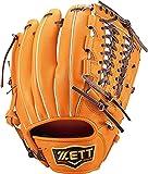 ゼット(ZETT) 軟式野球 グラブ(グローブ) プロステイタス サード用 右投げ用 オレンジ×ブラウン(5637) サイズ:4 BRGB30070